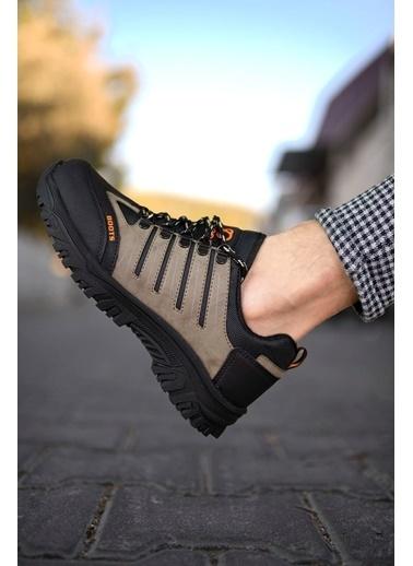 Riccon Haki Siyah Erkek Trekking Ayakkabı 0012115 Vizon